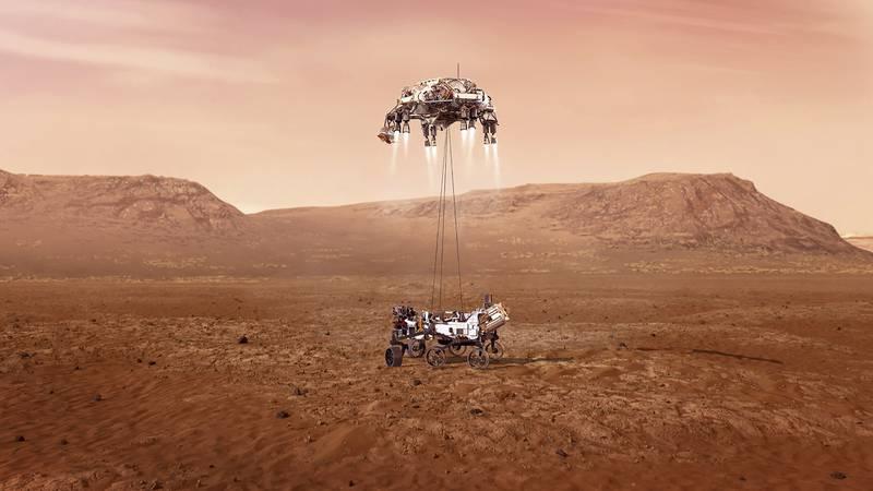 VUE D'ARTISTE ATTERISSAGE SUR MARS